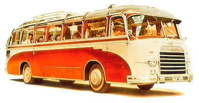 1953 Setra S 10 - alte Bauform Kässbohrer