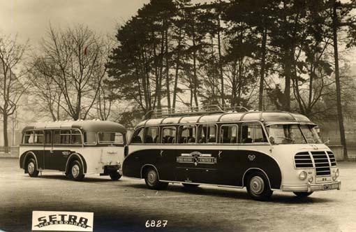 1954 Kässbohrer Setra S8 mit Kässbohrer Anhaenger