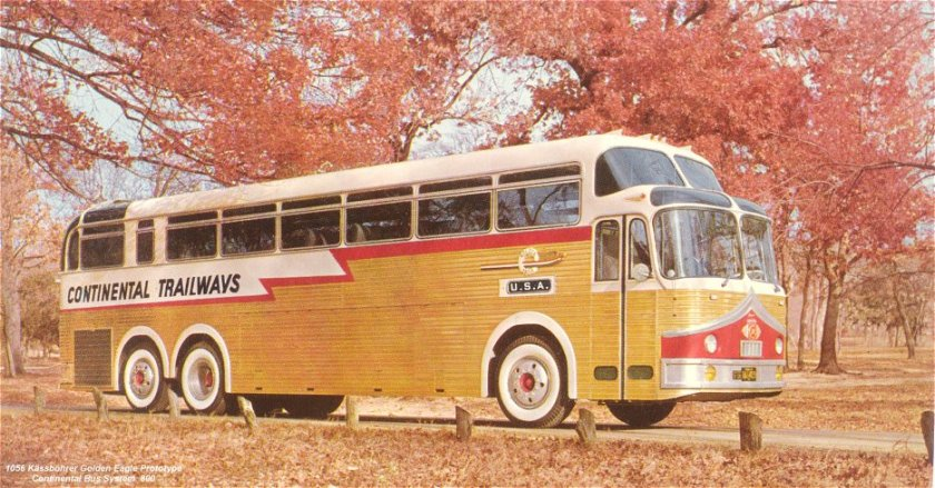 1956 Kässbohrer Golden Eagle Prototype Continental Bus Symthim