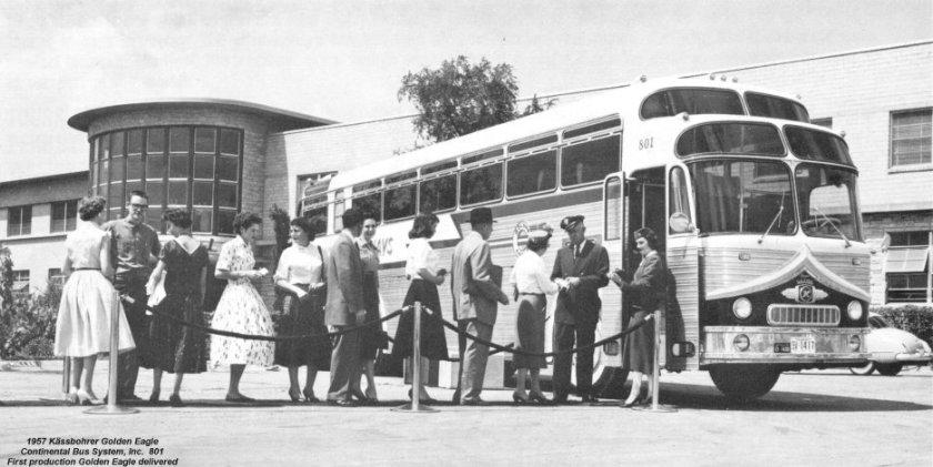 1957 Kässbohrer Golden Eagle Continental Bus System Inc 801
