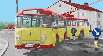 1958 Henschel O-Bus Kässbohrer trolleybus