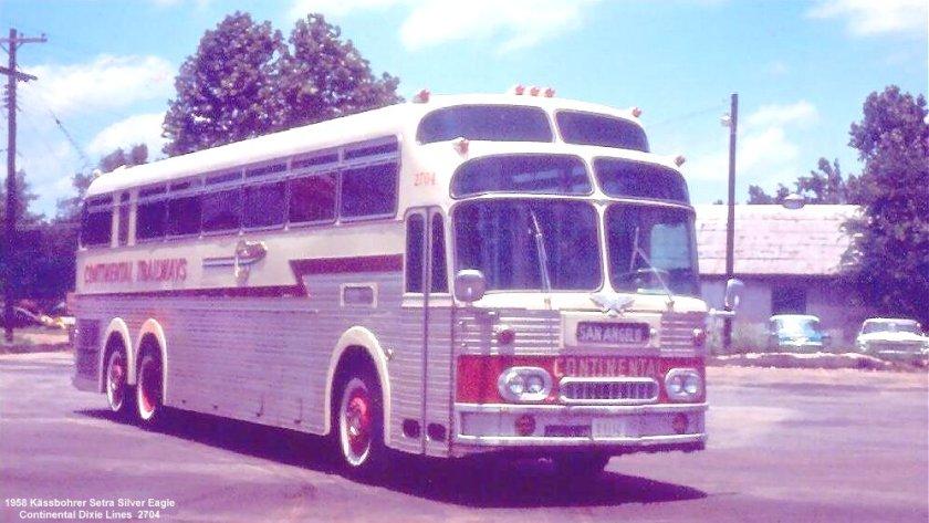 1958 Kässbohrer Setra Silver Eagle Continental Dixie Lines