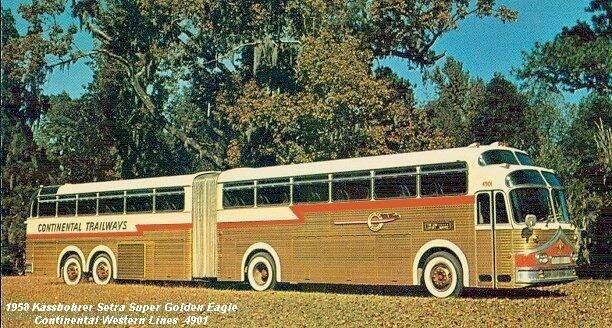 1958 Kässbohrer Setra Super Golden Eagle Continental Western Line