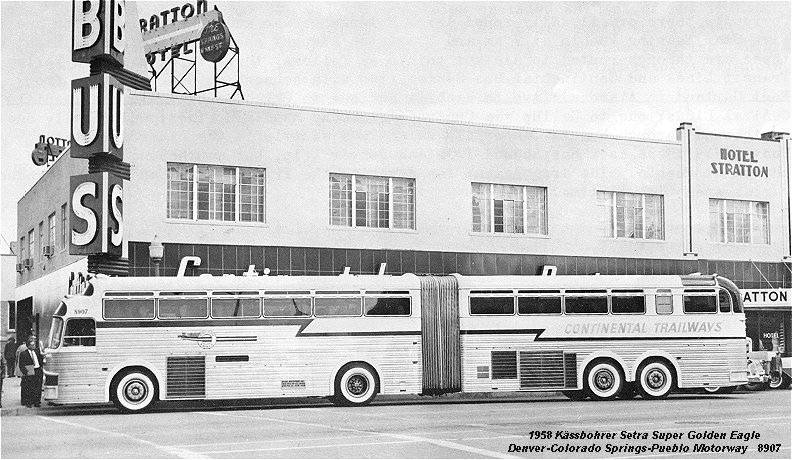 1958 Kässbohrer Setra Super Golden Eagle Denver Colorado Springs-Pueblo Motorway 8907
