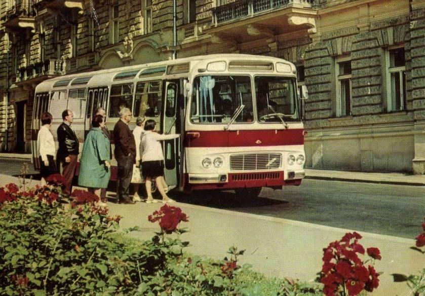 1968 Karosa publicity postcard.Czechoslovakia 1968