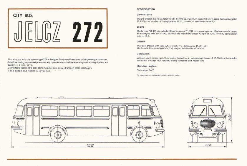 1969 Jelcz 272 Bus 23