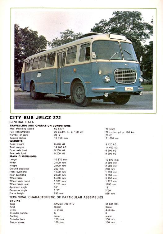 1969 Jelcz 272 MEX 272