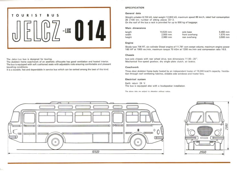 1969 Jelcz Lux 014 Bus 2 3 Brochure