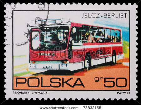 1973 stock-photo-poland-circa-a-stamp-is-printed-in-poland-jelcz-berliet-circa-73832158