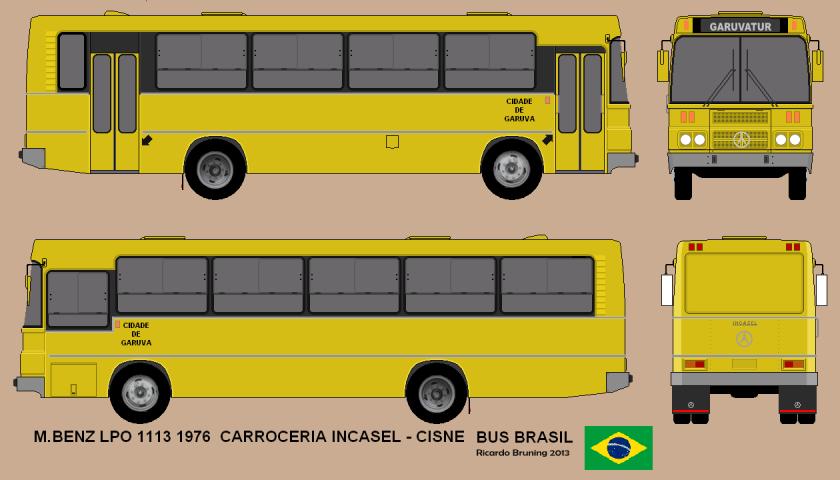 1976 M BENZ - INCASEL CISNE DESENHO BUS BRASIL
