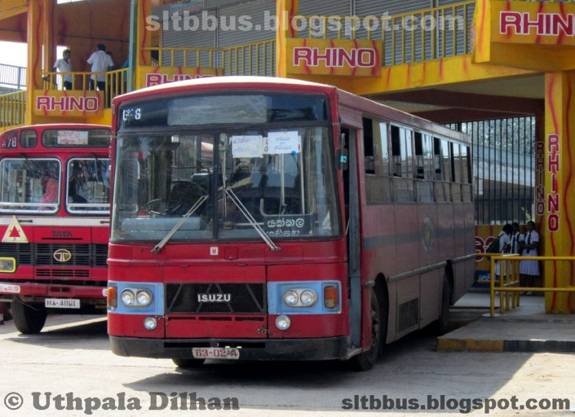 1981 ISUZU MT112 bus from SLTB Gampaha Depot