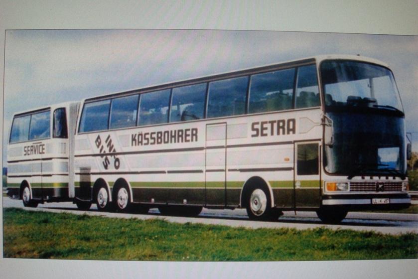 1984 Setra 216 Kässbohrer met aanhanger