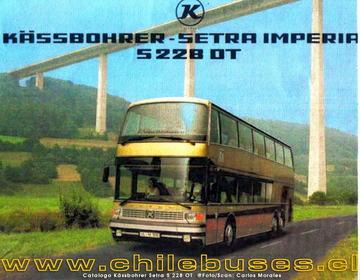 1988 Catalogo Kässbohrer Setra S 228 OT