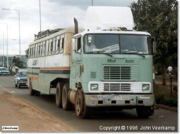 1996 International -Zambesi Articulated Bus Zimbabwe