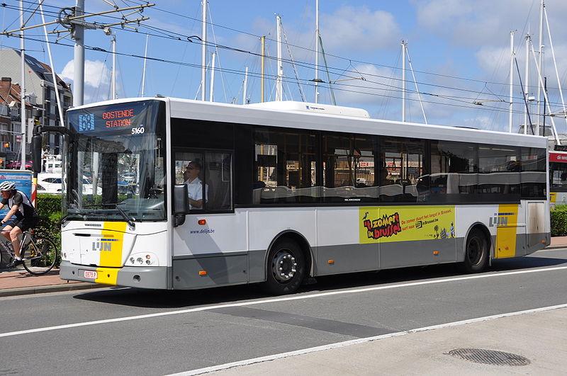 2010 Jonckheere Transit 2000 bus in Belgium. De Lijn operator