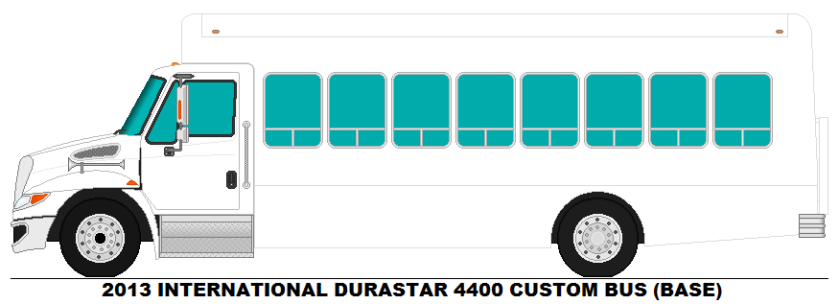 2013 International Durastar 4400 Bus Base