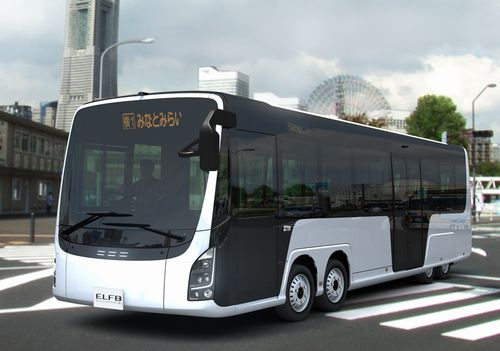 2013 ISUZU Electric Bus with Low Full Flat Floor