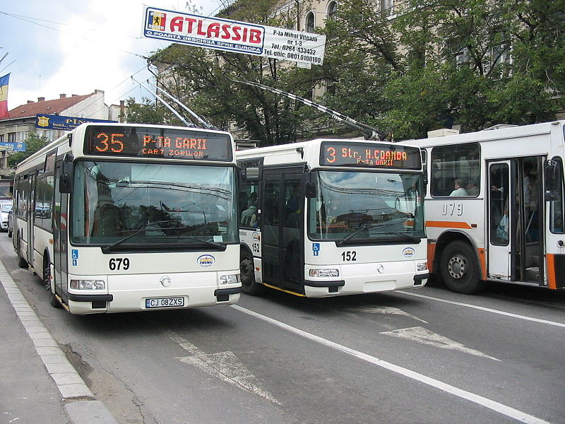 Iribus Agora buses in Cluj-Napoca, Romania