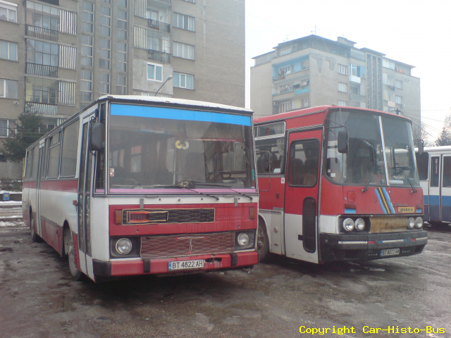 Karosa C734 et Ikarus 250