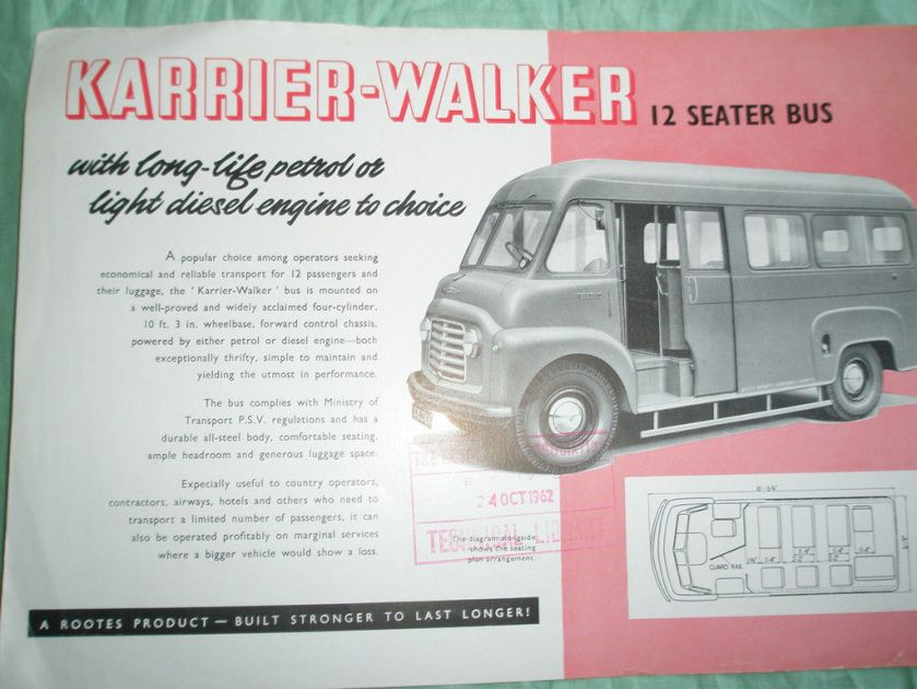 Karrier Walker 12 seat bus