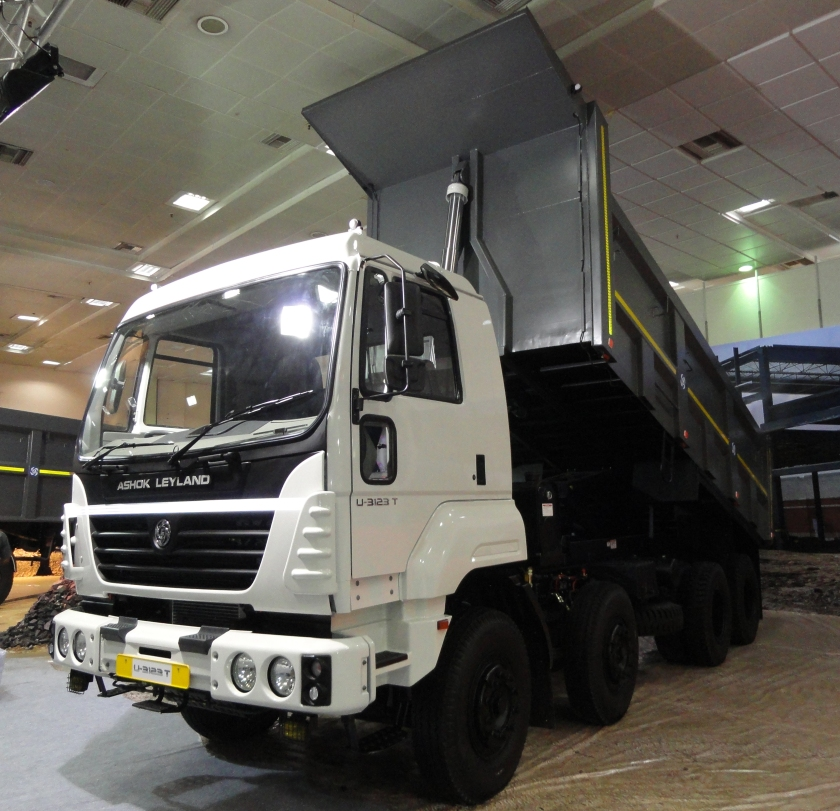 0 A present day Ashok Leyland Truck in India