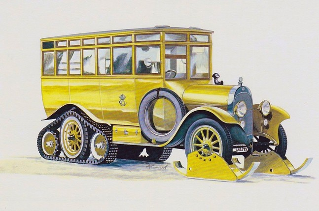 1923 Scania- Vabis half- track Sweden
