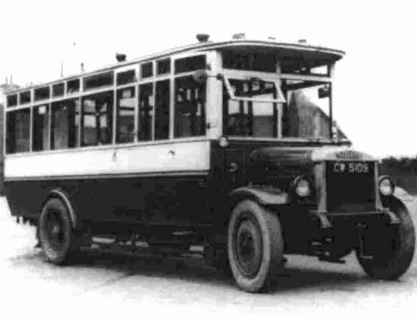 1924 Leyland A13 with modified bodywork in BCN livery