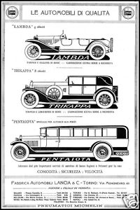 1925 LANCIA-LAMBDA-TRIKAPPA-PENTAIOTA-EXTRA-SERIE-AGENZIE