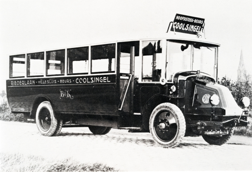1925 Particuliere busonderneming Brugman & Kleinjan B&K, Latil-Quist, dienst Coolsingel-Riederlaan