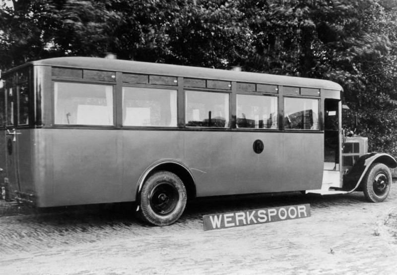 1928 Krupp-Werkspoor bus 1 bij de aflevering op 9-7-1928