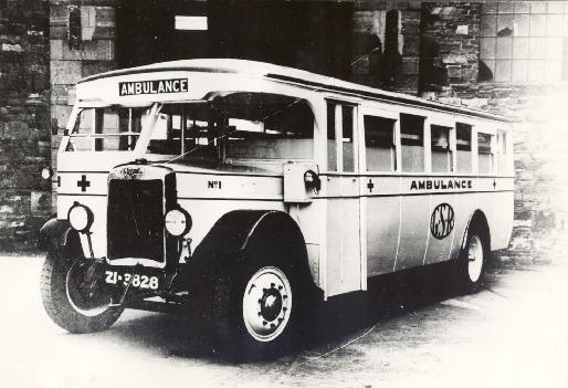 1929 GSR Ambulance number 1 was a GSR bodied Leyland TS2, new to the Irish Omnibus Company in 1929