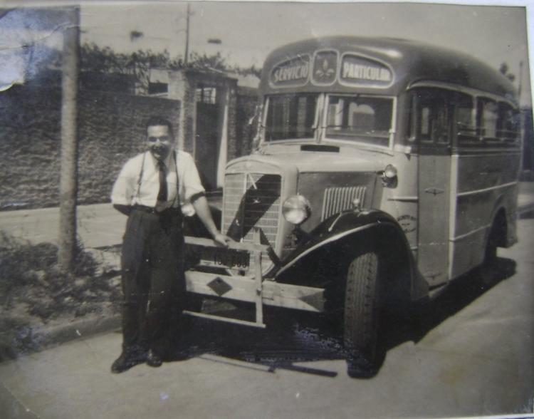 1934 Internacional Harvester C 40 - La Favorita - Original Linea 216 Interno 20, antes de ser reformado