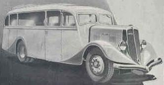 1935 Latil V3AB3, 1933-1938, 4x2 35- or 45-place bus
