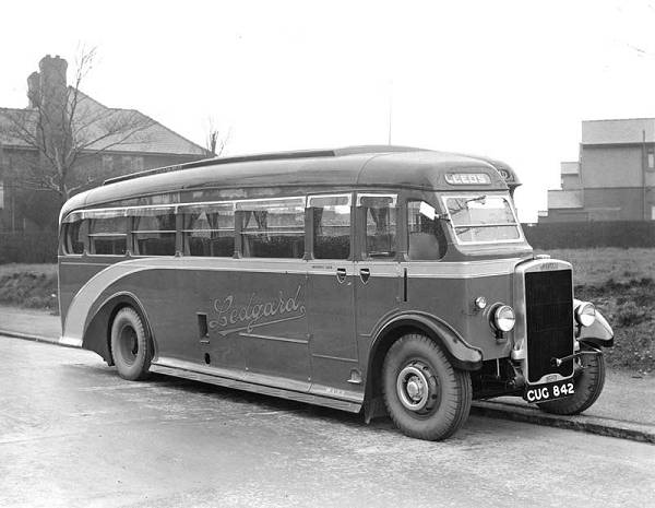 1936, a Leyland TS7 with an English Electric C32F body