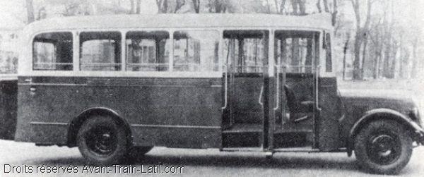 1936 latil autobus gazogene