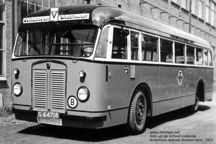 1937 Kromhout TB-4 - Verheul HTM 1 Amsterdam Kromhout-fabriek