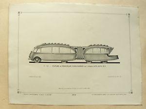 1937 Latil carr Remorque Caravane M2 Bus