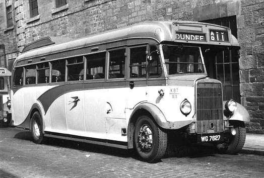 1939 Leyland Cheetah Alexander body C39F WG7627