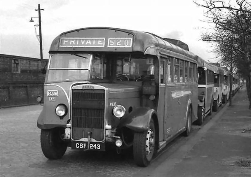 1939 Leyland Tiger TS8 Alexander body CSF243