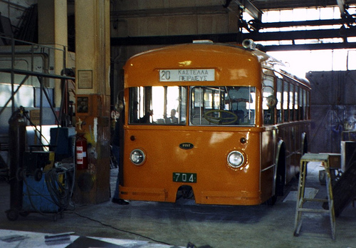 1940 Lancia Single rear-axle operating in Piraeus