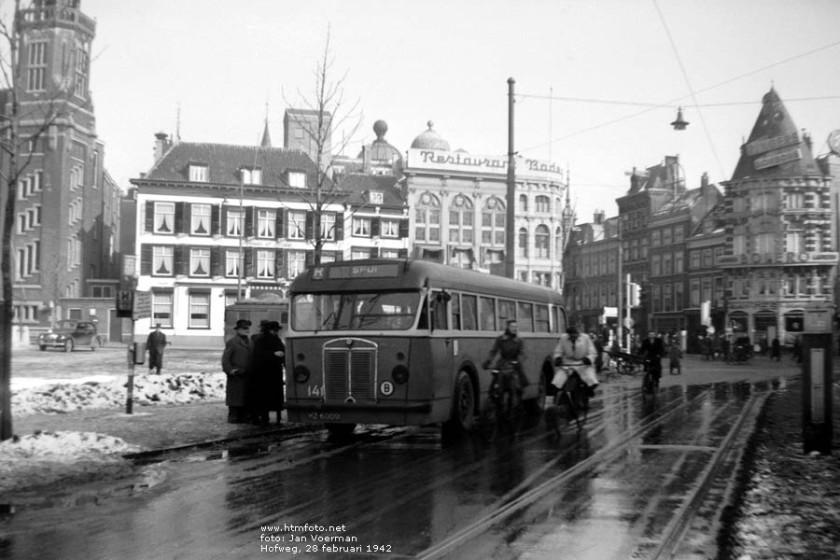 1942 Kromhout-Beijnes 141 op de Hofweg foto van Jan Voerman