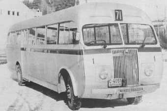 1946. Det var en Scania med Høka karosseri