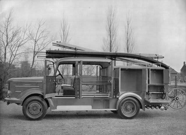 1947 De enige echte Kromhout die als brandweerwagen was opgebouwd