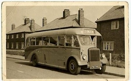 1947 leyland Tiger PS1 FWX779 Barnaby C35F