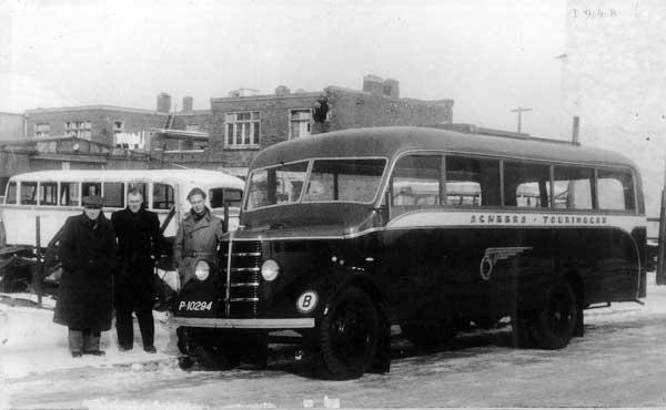 1948 Kusters Bedford bus voor Scheers Touringcar