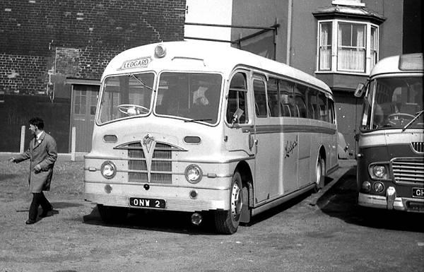 1950 Ledgard ONW2, a Foden PVFE6 with Plaxton Envoy FC39F bodylgonw2a