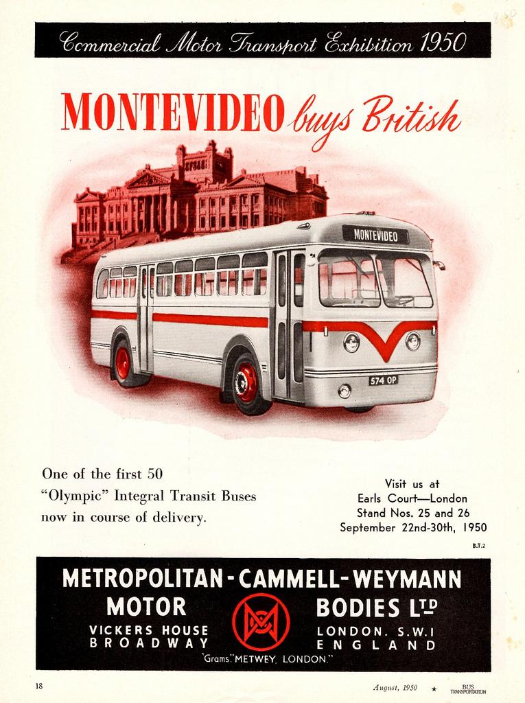 1950 Leyland Olympic Transit Bus