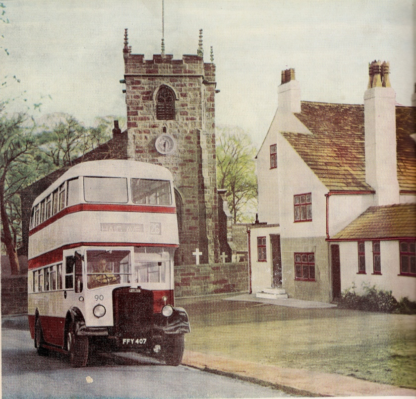 1950 Leyland PD2-3 fleet no. 90 (FFY 407) - advert plate c