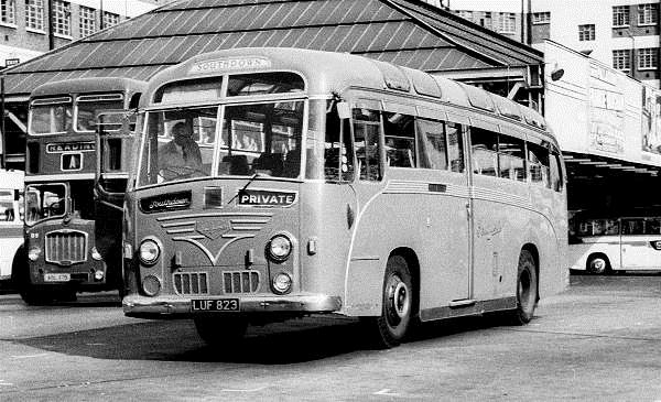 1951 Leyland Royal Tiger PSU1-15 with Harrington C41C body