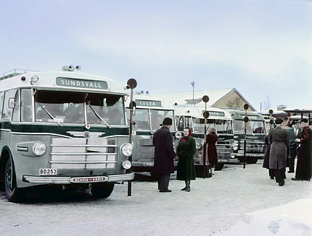 1951 Scania-Vabis B63  B22  B63  B63  B16 at the bus station i